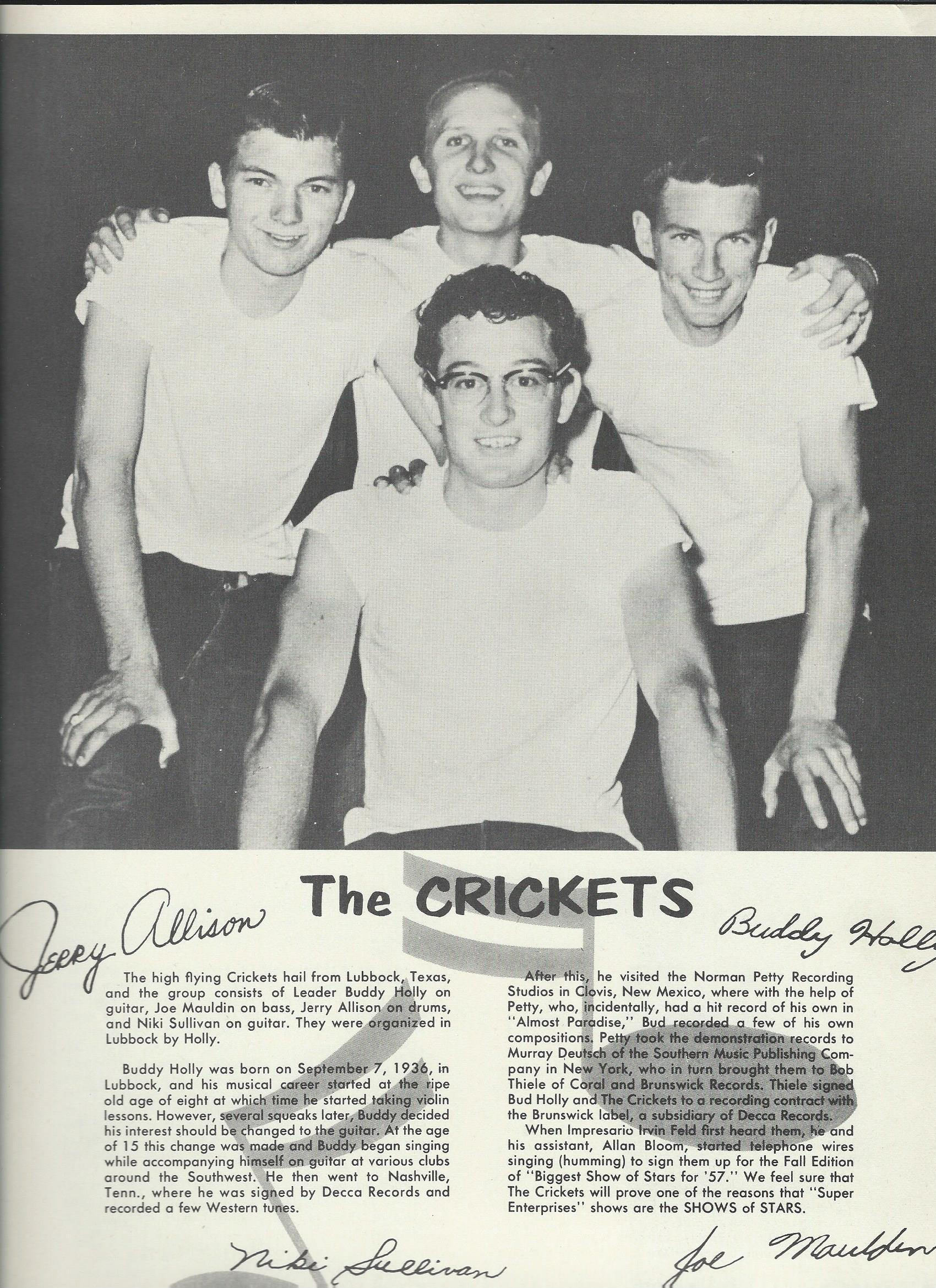Buddy Holly & the Crickets - souvenir programm2