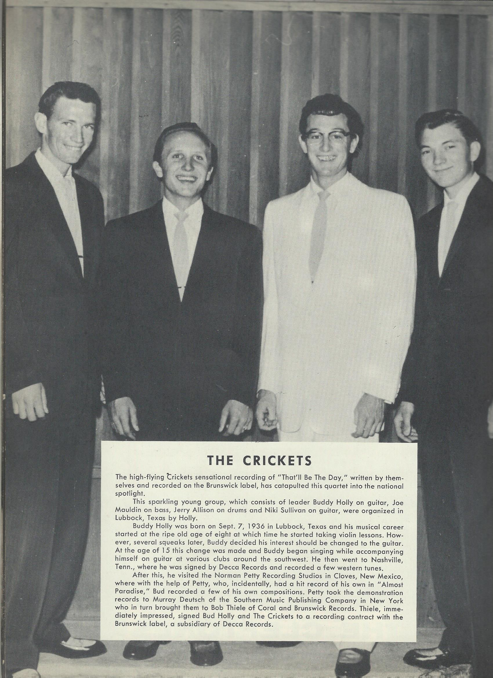 Buddy Holly & the Crickets - souvenir programm3